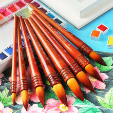 Buy 1Piece Nylon Hair Professional Watercolor Paint Brush Ancient Rhyme Style Acrylic Water Color Painting Brush Art Supplies 40RT directly from merchant!