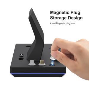 Image 4 - 2020 yeni 11th Gen 3 in 1 65W manyetik hızlı kablosuz şarj Dock enerji FORT Huawei 5A hızlı izle kulaklık şarj GT2