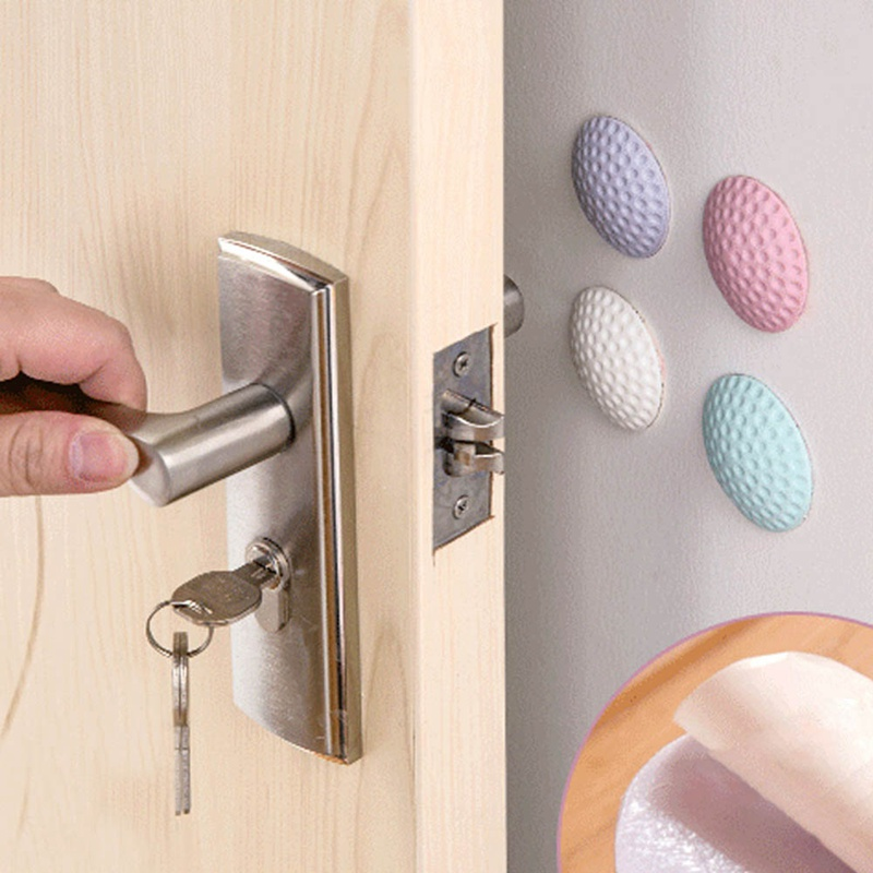 3Pcs/Lot Protection Baby Safety Shock Absorbers Security Card Rubber Door Stoppers Wall Protectors Door Handle Bumpers