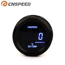 """CNSPEED 2 """"52 мм Датчик температуры выхлопного газа цифровой датчик температуры выхлопного газа синий светодиод EXT датчик автомобиля с датчиком"""