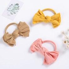 Lovely Hair Bow For Baby Girls Nylon Elastic Hair Bands For Girls Princess Headband For Children Infant Kids Hair Accessories