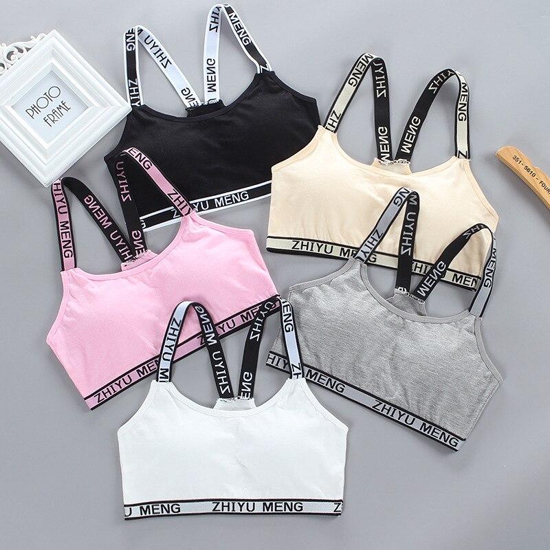 2pcs/lot Girls  Underwear Cotton Underwear  Children Training Bra Young Girls Bra Teenager Undergarments 8-18years