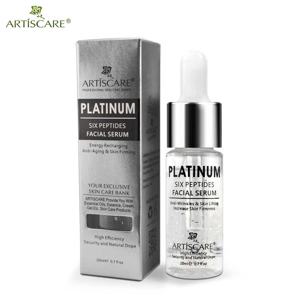 ARTISCARE Platinum Six Peptides Serum 20ml Hyaluronic Acid Anti-Wrinkle 24K Gold Face Essence Anti Aging And Whitening Skin Care