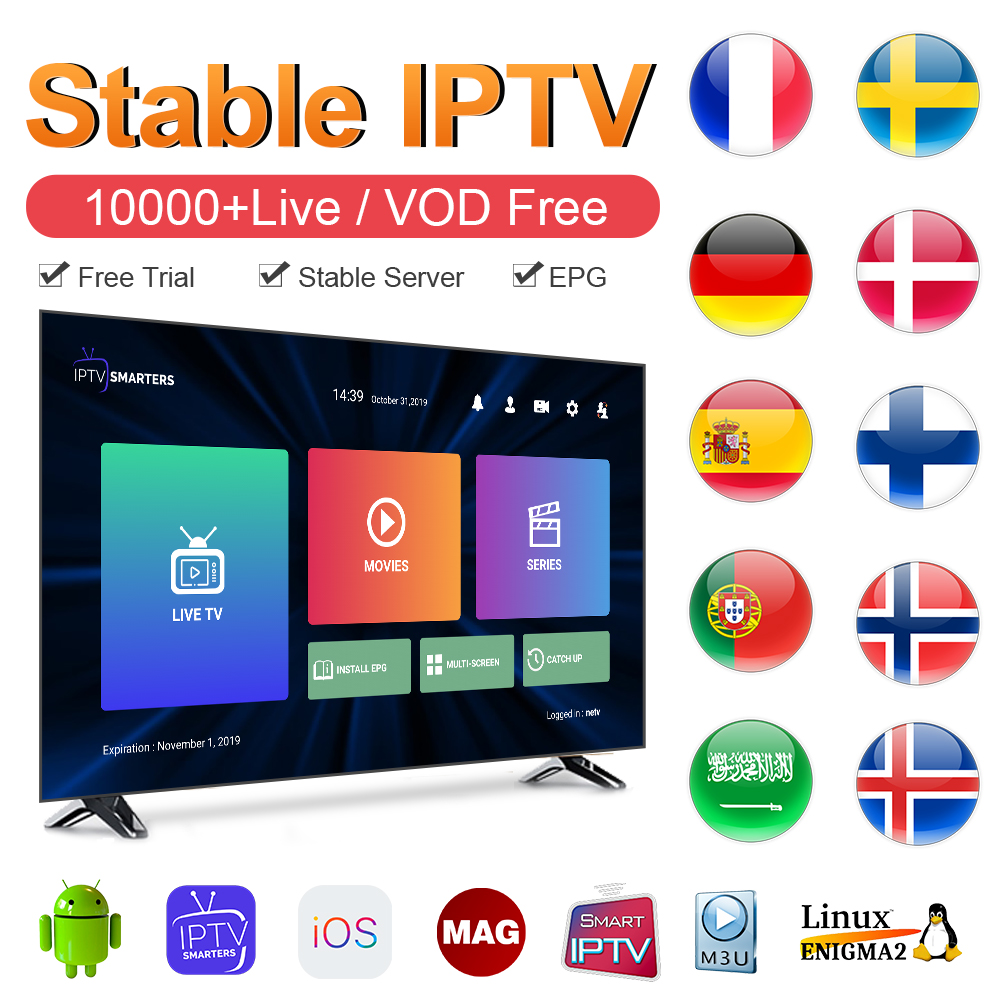 IPTV France Arabic Germany Albania IPTV Subscription M3u Android IP TV Italy Spain Portugal IPTV Code Sweden Norway French IP TV
