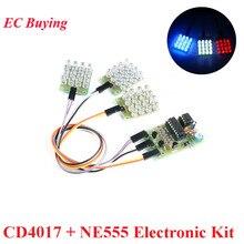 CD4017 + NE555 Electronic DIY Kit Flash Light Explosion Flashing LED DIY Learnin