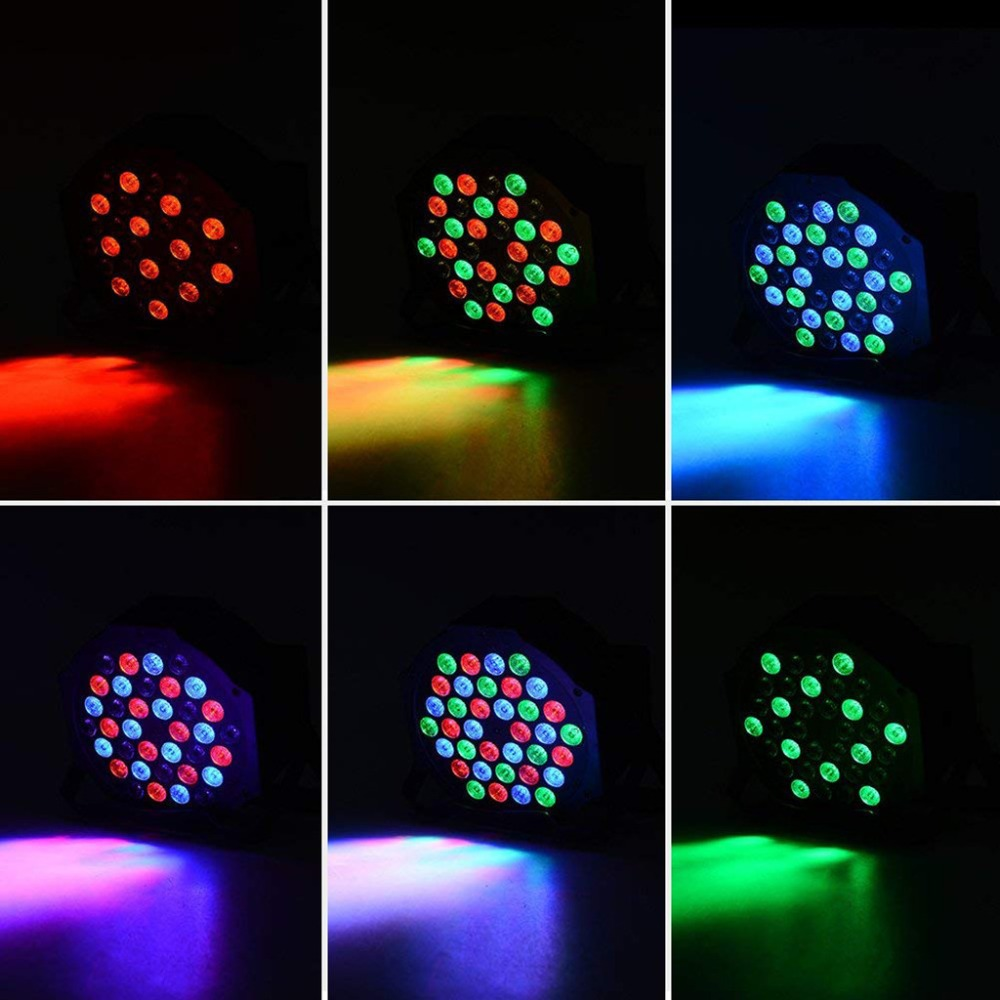 Disco Light Color DMX Voice Control Self-Propelled Laser Staining Stage Lights KTV Christmas 18LED (4)