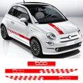 1 компл. Автомобильная задняя крышка, боковая дверь, юбка, полосы, наклейка для Fiat 500, автомобильный декор, виниловая пленка, стильные автомоб...