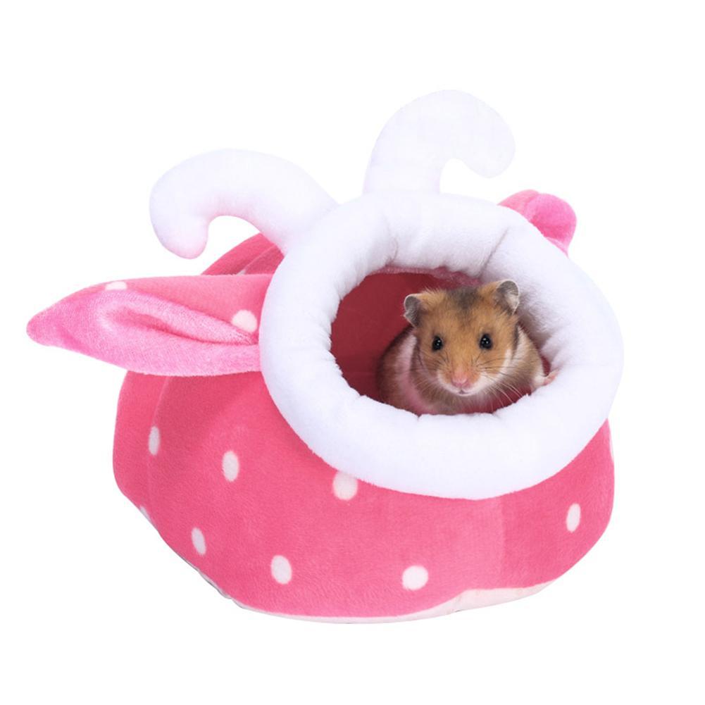 Hamster Cage font b Pet b font Cotton Nest Hedgehog Hamster Warm Cute Cartoon Plush Guinea