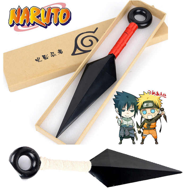 NARUTO Kakashi Cosplay Props Akatsuki Uchiha Itachi Kunai Weapons Armor 26cm Throwing Darts Knives Accessories