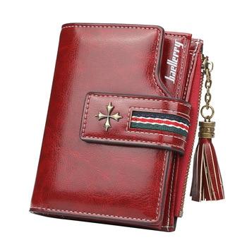 Mini Tassel Wallet Women Fashion Purse Female Short Wallets Korean Students Lovely Small for