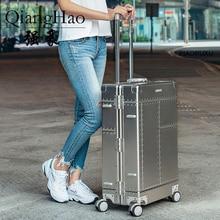 """20 """"26"""" 29 """"بوصة 100% مادة سبائك الألومنيوم المغنيسيوم حقائب سفر الأعمال وحقائب السفر valise تحمل على الأمتعة"""