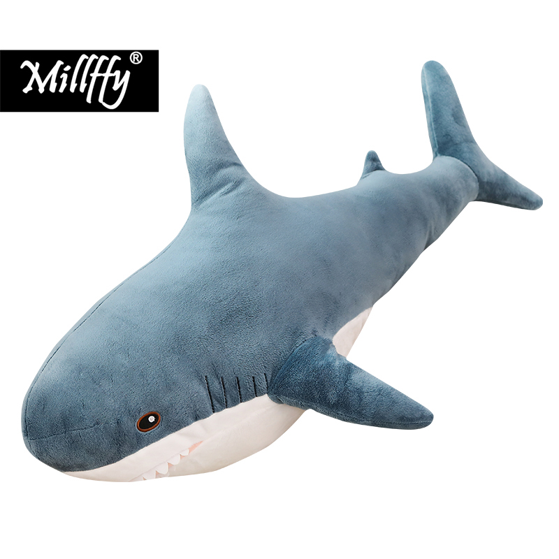 Dropshipping Killer <font><b>whale</b></font> plush soft toys baby <font><b>whale</b></font> stuffed Orca <font><b>plushy</b></font> doll peluches sleeping pillow cushion for children image