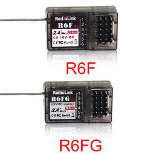Radiolink R6F/R6FG 6CH 2.4GHz Receiver with Gyro Integrated and HV Servo Supported for RC4GS/RC6GS/RC4G/T8FB()