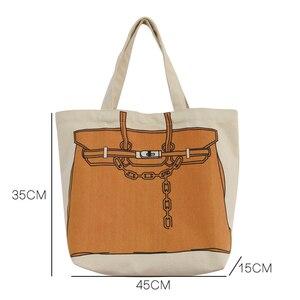 Image 2 - Youda design original impressão de moda grande capacidade bolsa estilo clássico senhoras sacola de compras casual simples feminino