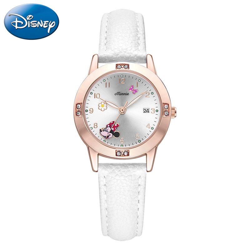Lovely Minnie Girl Cute Calendar Time Watch Beautiful Youth Women Fashion Casual Wrist Watches Ladies Children Clock Kids Gift