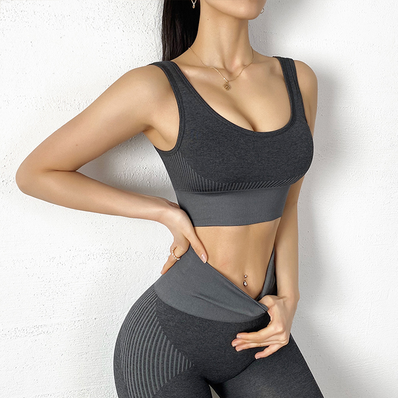 Gym 2 Piece Workout Clothes Set For Woman Sports Bra And Leggings Set Sports Wear For Gym Athletic Clothes Yoga Set