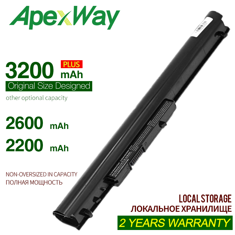 ApexWay battery HP oa04 oa03 HSTNN-LB5Y HSTNN-LB5S HSTNN-PB5Y For HP 240 G2 For HP CQ14 For HP CQ15 Compaq Presario 15-h00(China)