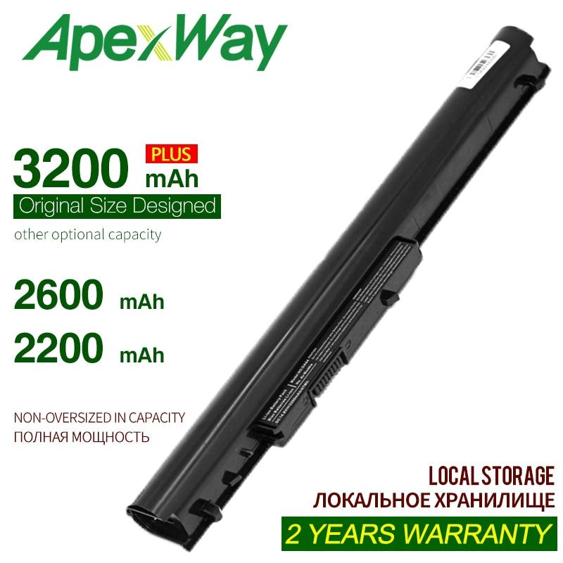 ApexWay battery HP oa04 oa03 HSTNN-LB5Y HSTNN-LB5S HSTNN-PB5Y For HP 240 G2 For HP CQ14 For HP CQ15 Compaq Presario 15-h00(China)