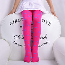 BalleenShiny Spring Autumn Velvet Baby Girls Love Heart Tights Candy Color Children Dance Hot New Lovely 12 Colors Pantyhose