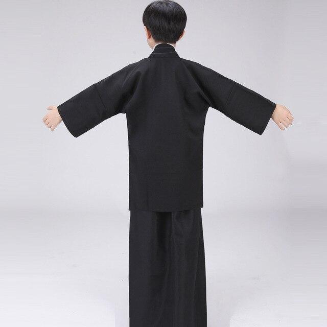 Boys Cosplay Costume Japanese Kids Kimono Yukata Traditional Samurai Robe Halloween Costumes Children Performance Clothes 2