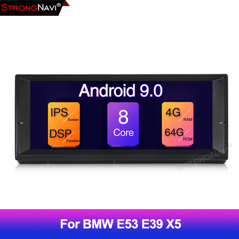 1 Din Android 9 Auto Radio For BMW/E39 Octa Core RAM 4GB ROM 64GB GPS Car Multimedia Stereo System BT WIFI DSP 10.25''IPS screen image