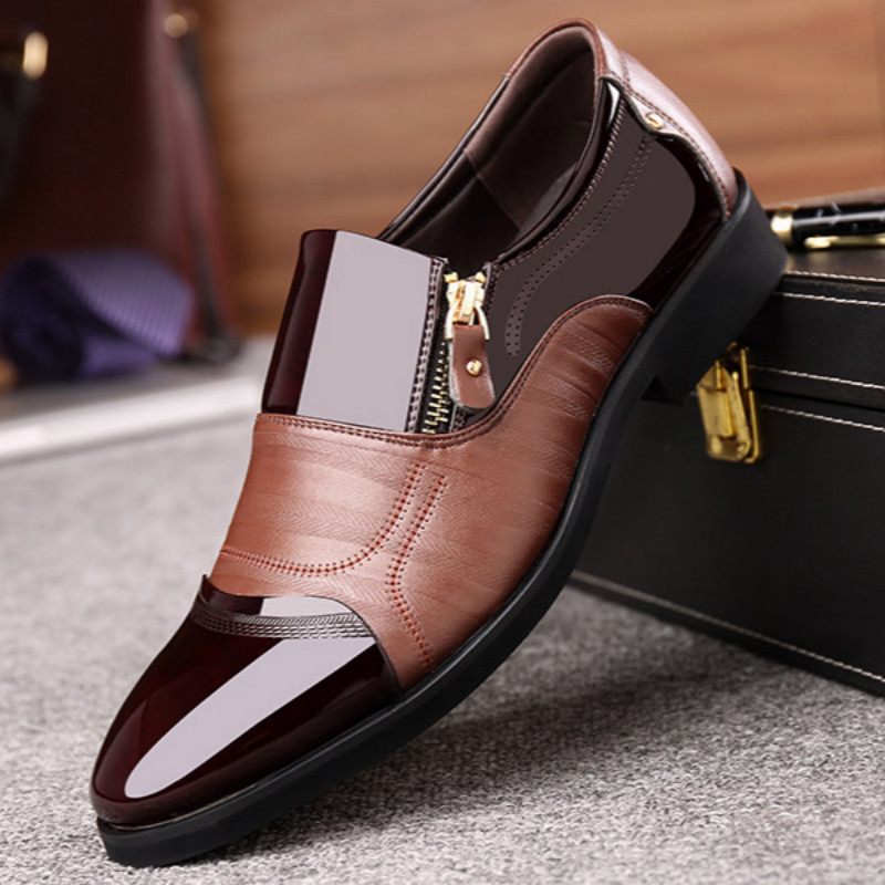 2019 Autumn New Large Men's Shoes Formal Wedding Shoes British Youth Office Business Men Shoes NX095224