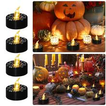 Spider Web Candle Decorative Candlelight for Ghost Festival Halloween House Decoration
