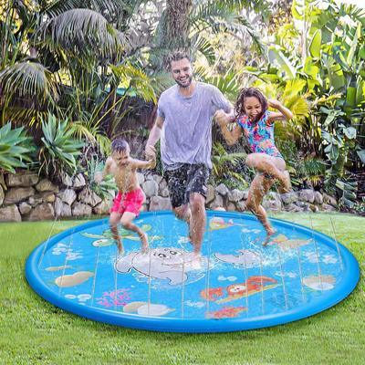 170cm Inflatable Spray Water Cushion Summer Kids Play Water Mat Lawn Games Pad Sprinkler Play Toys Outdoor Tub Swiming Pool