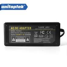 Dc 48 v 3a 144 w ac 100 v 240 v 변환기 어댑터 스위칭 전원 공급 장치 충전기 dc 5.5mm 미국/eu/uk/au