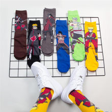 Anime Cartoon Naruto Socken Akatsuki Knie Hohe Stocking Cosplay Mode Männer Baumwolle Schmerzen Uchiha Itachi Hoshigaki Kisame(China)