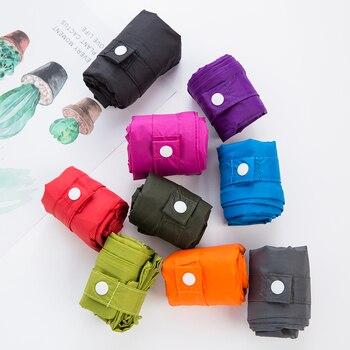 Thick double layer portable foldable shopping bag large nylon bag thick bag foldable waterproof tear proof Shoulder Bag Handbag