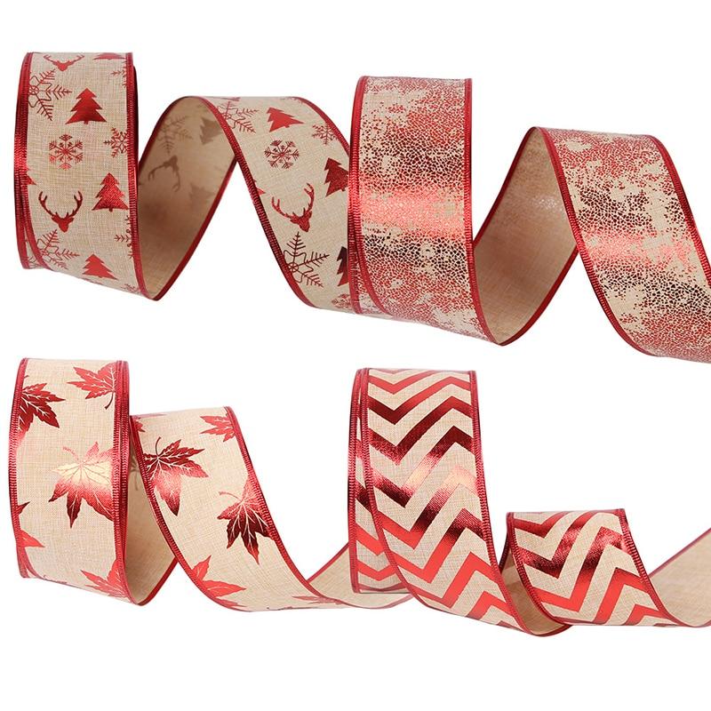 Рождественская лента 2 м * 6,3 см, рождественские украшения, ленты для рукоделия, украшения для рождественской елки, Аксессуары для выпечки, ле...