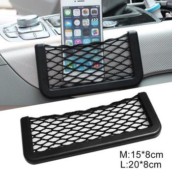 Multifunctional Easy Mount Mesh Net Car Storage Bag Holder for Phone Cash Card image