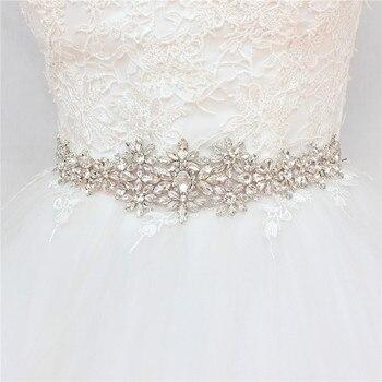 YJWSXF wedding dress belt ladies bridal rhinestone pearl accessories