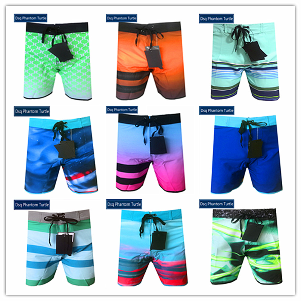 Spring Summer 2020 Brand Dsq Phantom Turtle Beach Board   Shorts   Men Elastic Spandex Swimwear 100% High Quality Bermuda Swimsuit