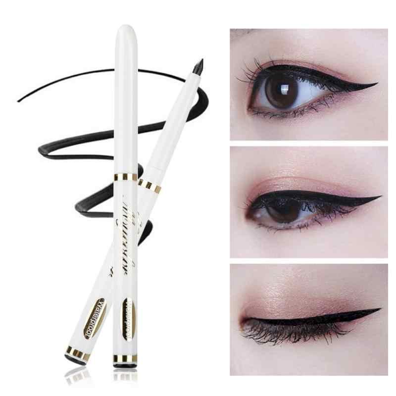 Make-Up Zwarte Eyeliner Vloeibare Potlood Snel Droog Geen Waterdichte Transpiratie Eyeliner Vrouwen Cosmetische Makeup Langdurige