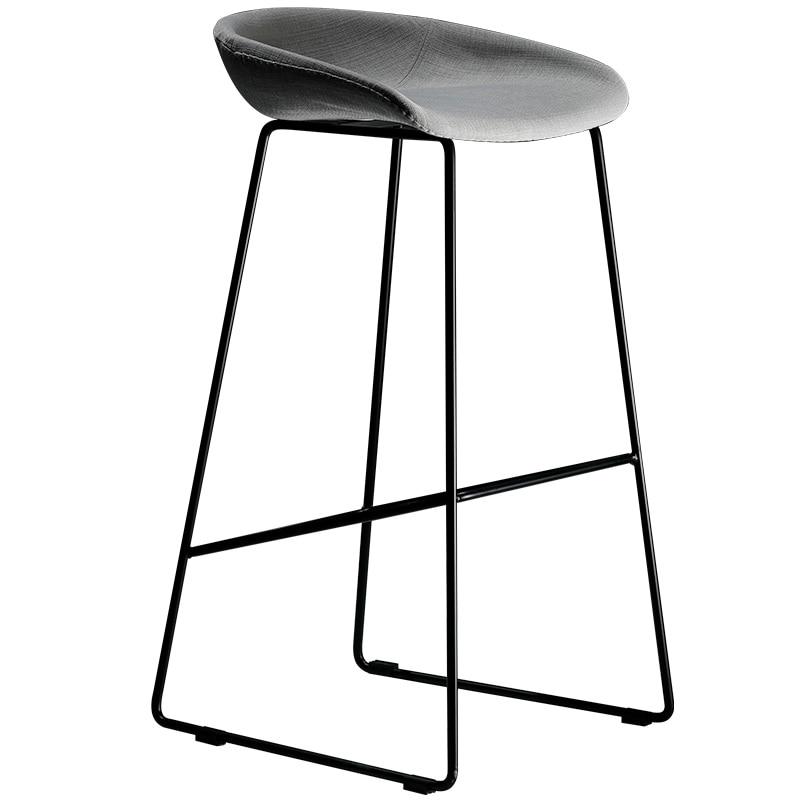 Modern Simple Bar Chair Northern Europe Fashion Light Luxury Bar Chair Creative Bar Stool Designer Iron High Stool