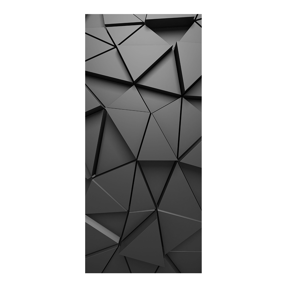 Simulation Multifunctional Decal 3D Geometric Door Stickers Bedroom Mural DIY Home Decor Self Adhesive Removable For Living Room