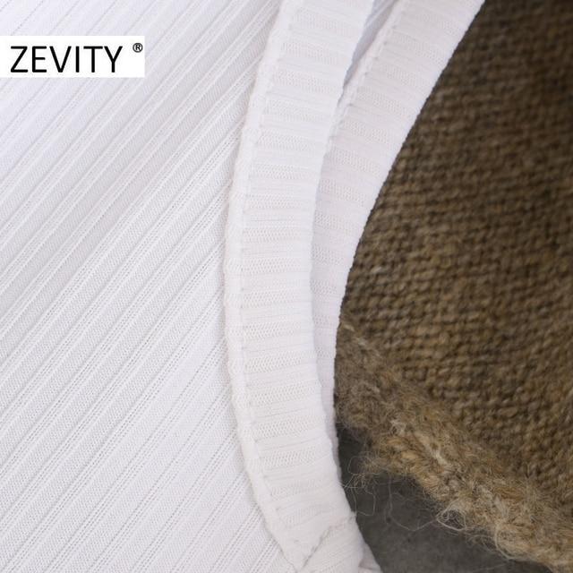 ZEVITY-pull à manches longues pour femme, col rond, gilet en tissu patchwork, pull en tricot décontracté chic, S411, hauts pullover