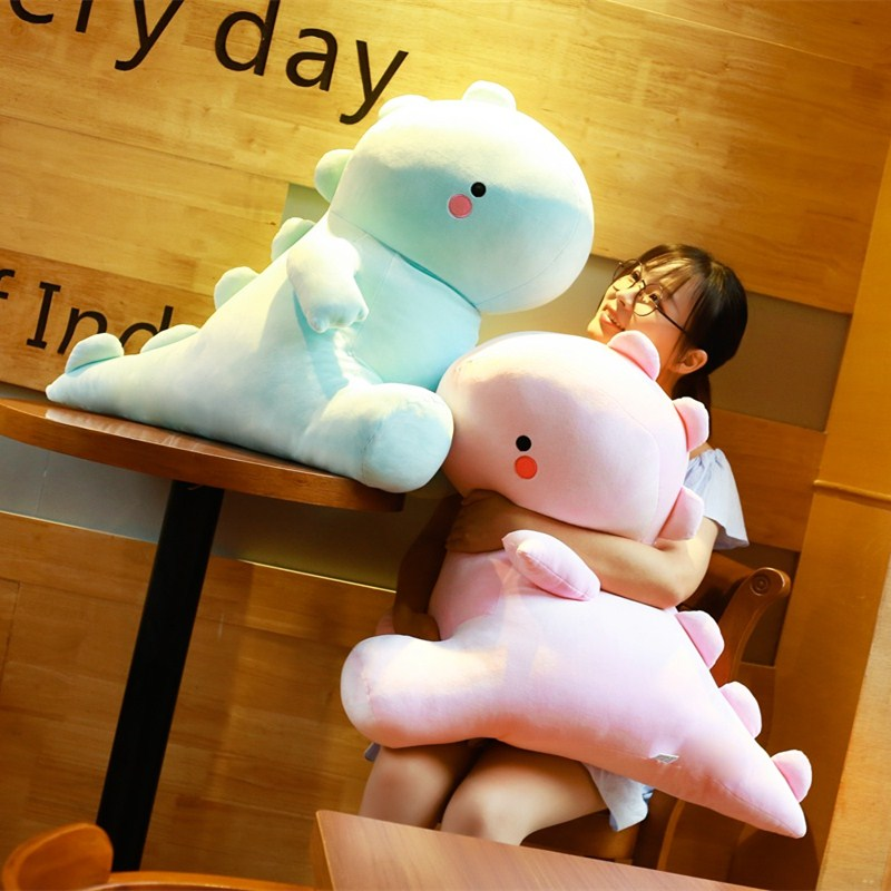 Muñeco de dinosaurio ultradelgado de 30/40/50/60cm, adorable muñeco de dinosaurio de peluche en color rosa/azul, juguetes de peluche para regalo para niños