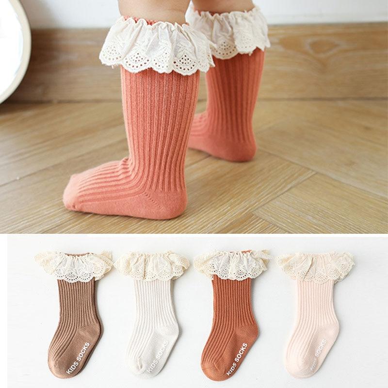 Baby socks New Kids Toddlers Girls  Knee High Long Soft Cotton Lace Baby Children Socks Baby Girl socks 0 to 3 years 3