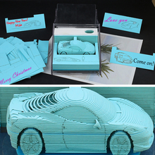 Father's Day Gift Cute Beautiful Block 3D Memo Pads Lovely Car Model 3D Paper Note