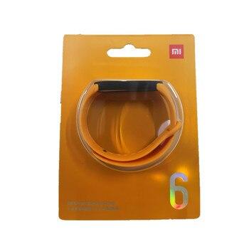 100% Original Xiaomi mi band 6 5 strap silicone bracelet Mi band6 Yellow Strap wrist XiaoMi Mi Band 5 replacement silicone strap 19