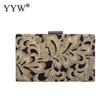 купить Gold Satin Vintage Handbag Embroidery Purse For Wedding Party Prom Evening Party Clutch Bags Luxury Handbags Women Bags Designer дешево