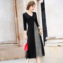 春 2019 新しい高級デザイン有名人レトロファッションパーティードレス 3xl 女性オフィスエレガントなドレスプラスサイズの冬のドレス
