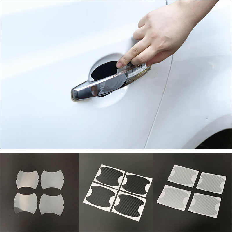 4 sztuk klamka do drzwi samochodowych miska naklejka ochronna dla Honda Brio CLARITY HR-V VEZEL paszport Pilot CR-Z NSX Ridgeline