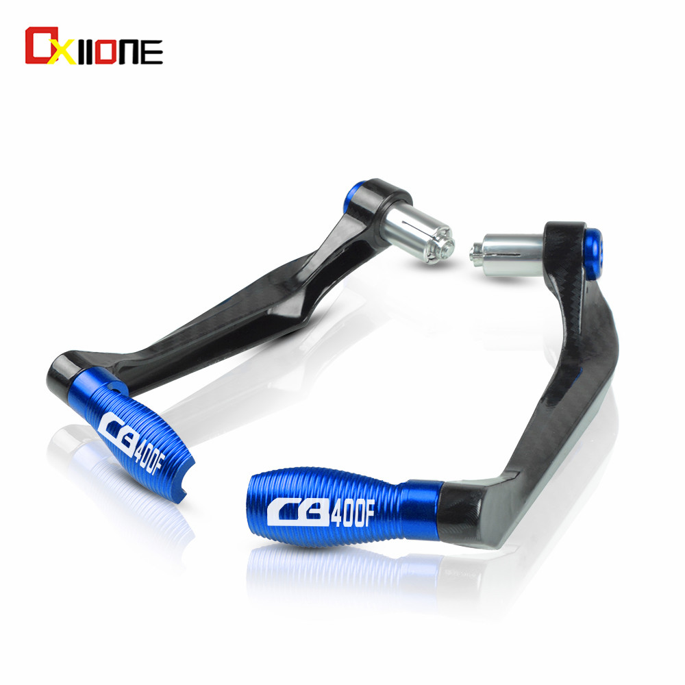 22mm Motorcycle Accessories Handle bar Grips End Brake Clutch Levers Protection Guard For Honda CB400F CB <font><b>400</b></font> F With logo image
