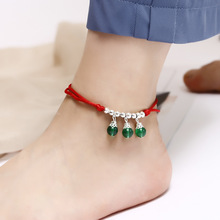 цена на 1 Pc Simple Red Rope Anklet Cool National Style Bell Anklet Hand-Woven Anklet Chic Gifts
