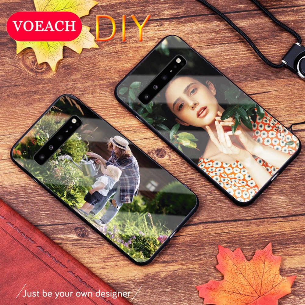 Kustom Pribadi Ponsel Case untuk Samsung Galaxy S20 S10 S9 Catatan 10 Plus A70 A50 A40 A10 A6 M20 Cover disesuaikan Gambar Foto