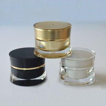 10g plastic acrylic slim waist jar pot tin bottle for eye serum/cream/essence/art nail skin care cosmetic packing